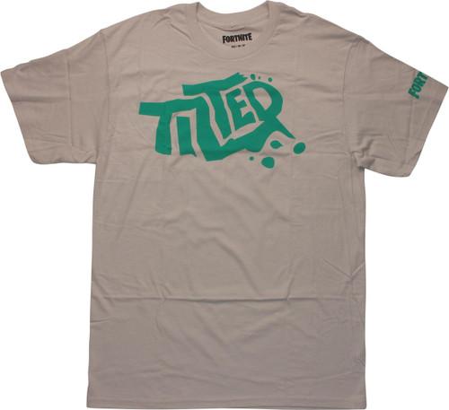 Fortnite Green Tilted Logo Silver T-Shirt