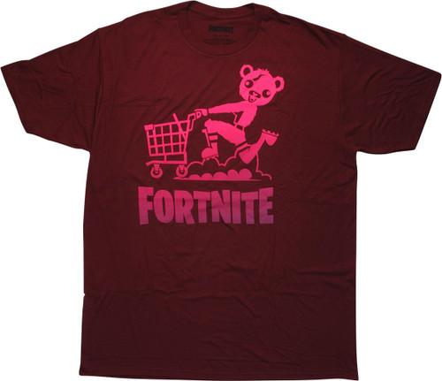 Fortnite Cuddle Team Leader Cart Maroon T-Shirt