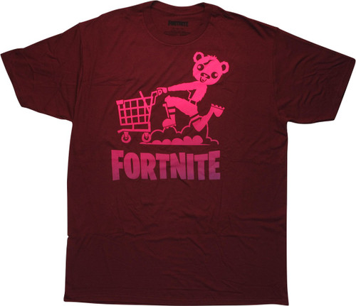 Fortnite Cuddle Team Leader Cart Maroon T-Shirt
