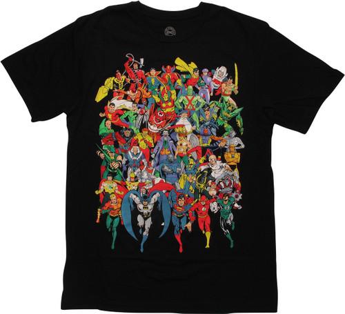 DC Comics Universe Heroes and Villains T-Shirt