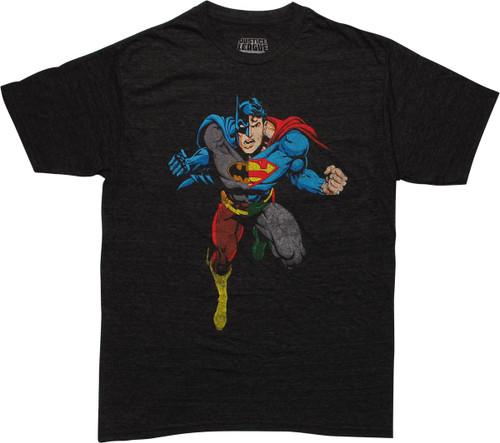 Justice League Heroes Combine Quadrant T-Shirt