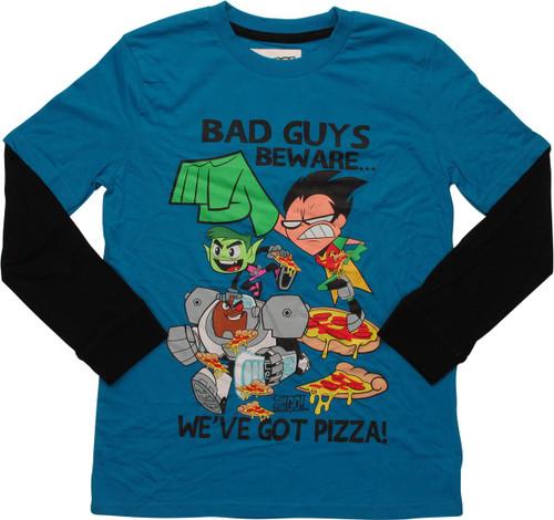 Teen Titans Go We've Got Pizza LS Youth T-Shirt