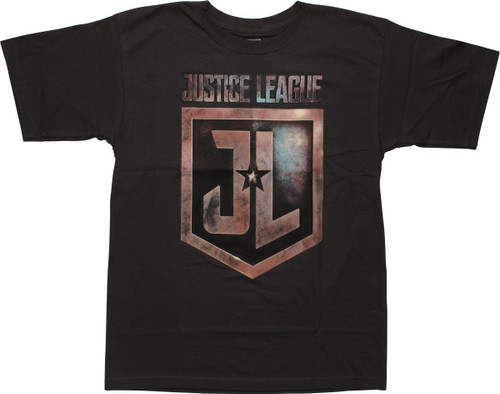 Justice League Movie Logo Gray Youth T-Shirt