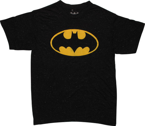 Batman Classic Logo Heather Charcoal Youth T-Shirt