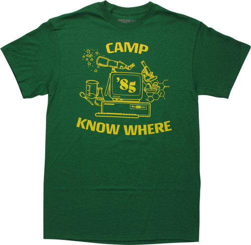 Stranger Things Camp Know Where 1985 Green T-Shirt