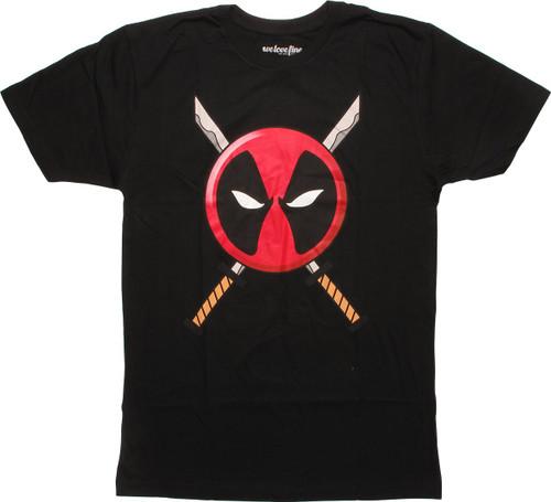 Deadpool Logo Blades T-Shirt