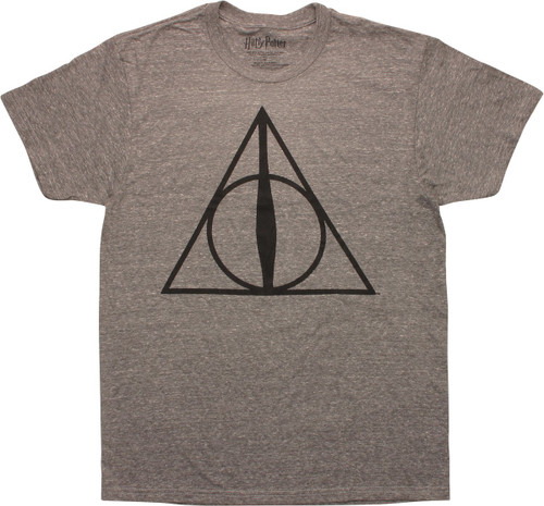 Harry Potter Deathly Hallows Heather T-Shirt