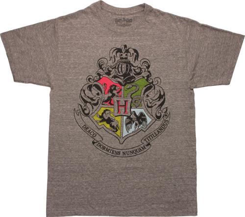 Harry Potter Hogwarts House Insignias T-Shirt
