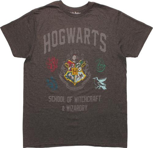 Harry Potter Hogwarts School Distressed T-Shirt