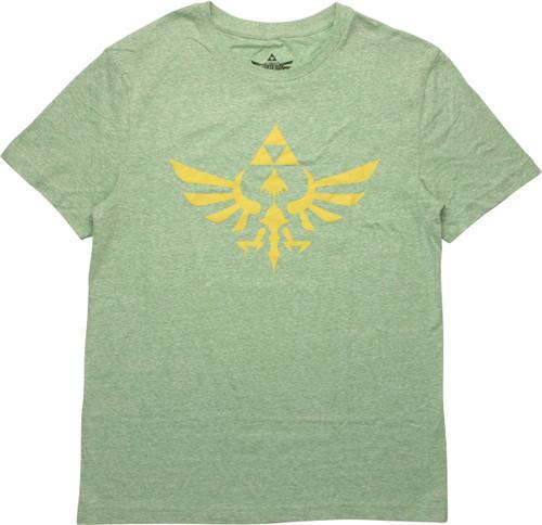 Zelda Skyward Sword Crest Green Heather T-Shirt