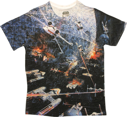 Star Wars Death Star Battle Sublimated T-Shirt
