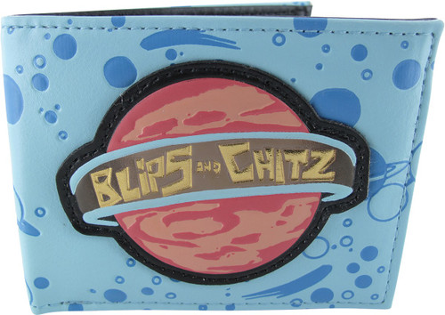 Rick and Morty Blips and Chitz Bi-Fold Wallet