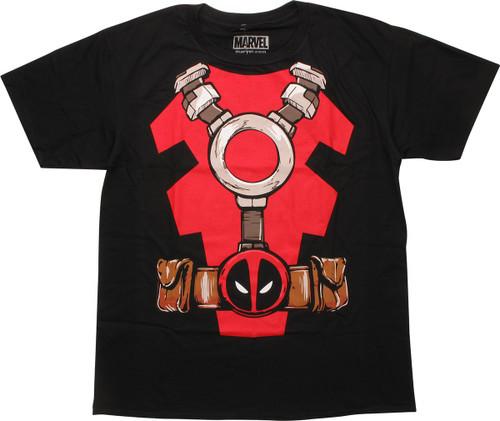 Deadpool Costume Suit Black T-Shirt