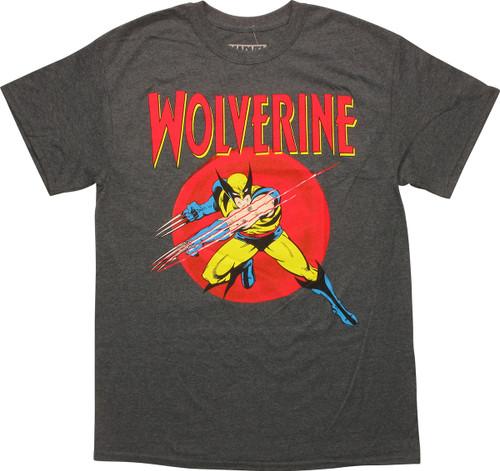 X Men Wolverine Circle Claw Slash Heather T-Shirt