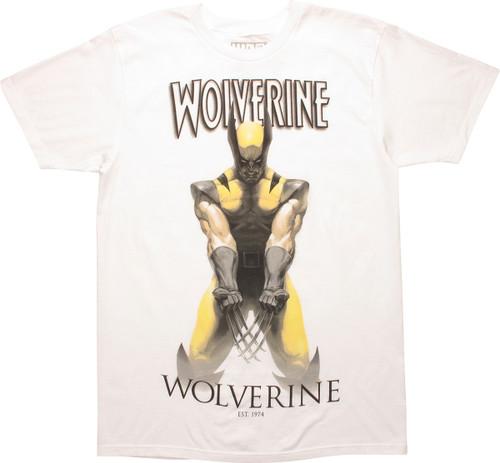 X Men Wolverine Established 1974 White T-Shirt