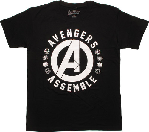 Avengers Assemble Logo Hero Logos T-Shirt