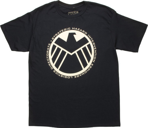 SHIELD Large Insignia Logo Navy Blue T-Shirt