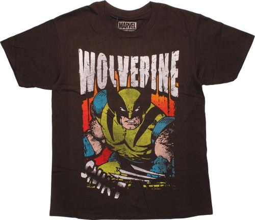 X Men Wolverine Snikt Stencil Vintage T-Shirt