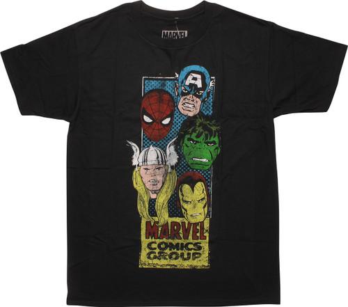 Marvel Comics Hero Heads Corner Box T-Shirt