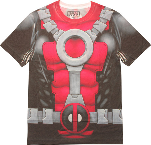 Deadpool Sublimated Double Sided Costume T-Shirt