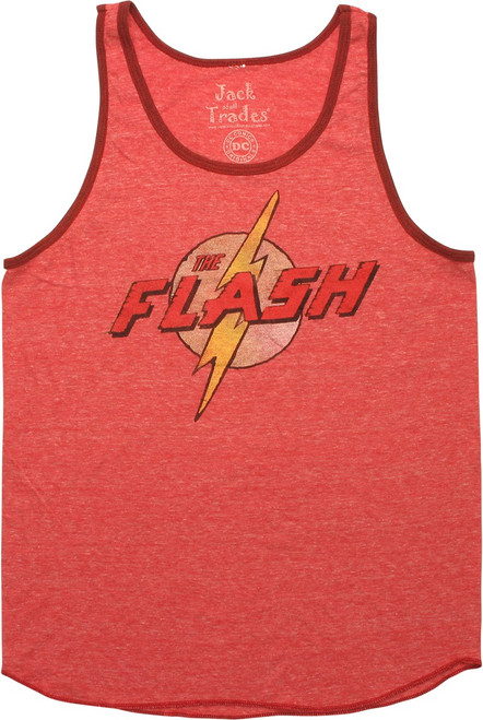 Flash Vintage Name Logo Ringer Tank Top