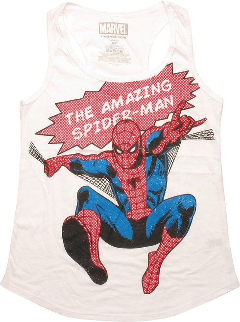 Amazing Spiderman Web Leap Juniors Tank Top