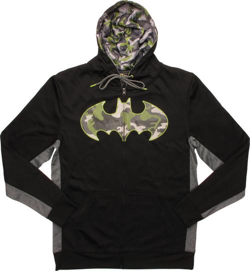 Batman Camouflage Logo Athletic Zip Hoodie