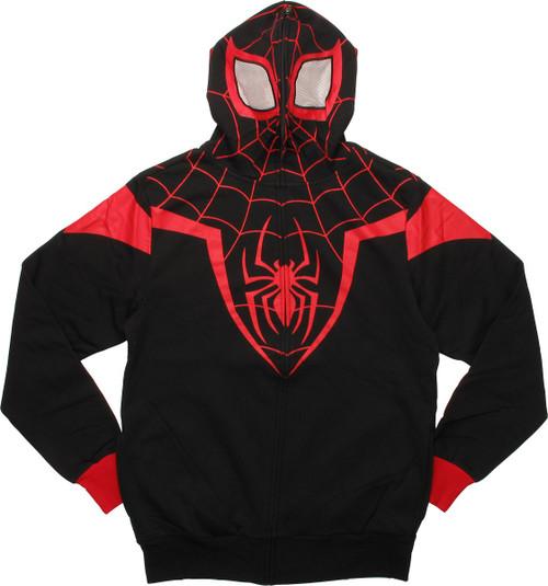 Spiderman Miles Morales Costume Suit Hoodie