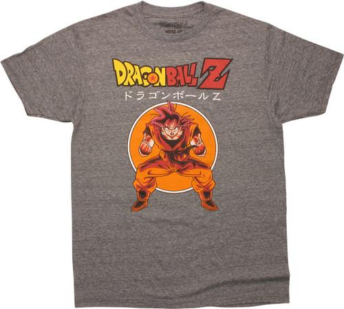Dragon Ball Z Goku Heathered Gray T-Shirt