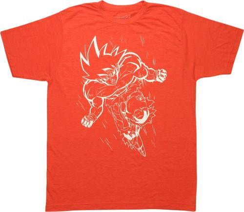 Dragon Ball Z Goku Outline Orange T-Shirt