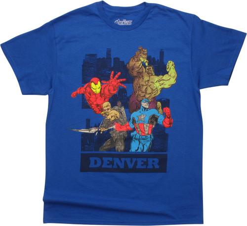 Avengers Denver Royal Blue T-Shirt