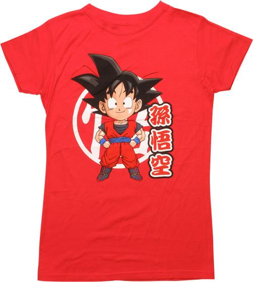 Dragon Ball Z Super Deformed Goku Juniors T-Shirt