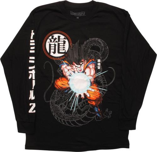 Dragon Ball Z Goku Kamehameha Attack LS T-Shirt