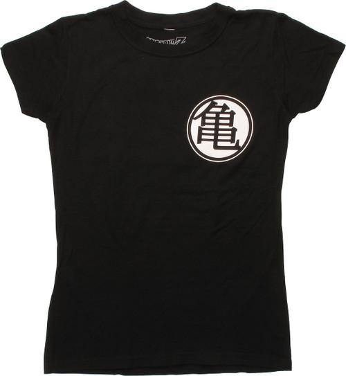 Dragon Ball Z Kame King Kai Black Juniors T-Shirt