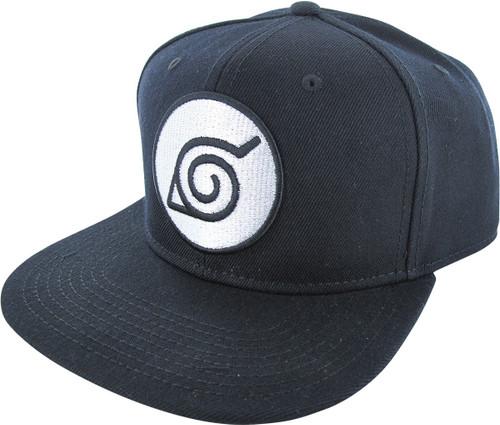 Naruto Shippuden Leaf Logo Snapback Hat