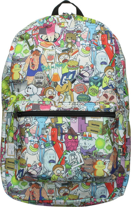 Rick and Morty Characters Sublimated Backpack