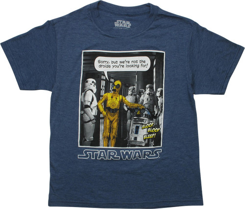 Star Wars Not the Droids Disguised Youth T-Shirt
