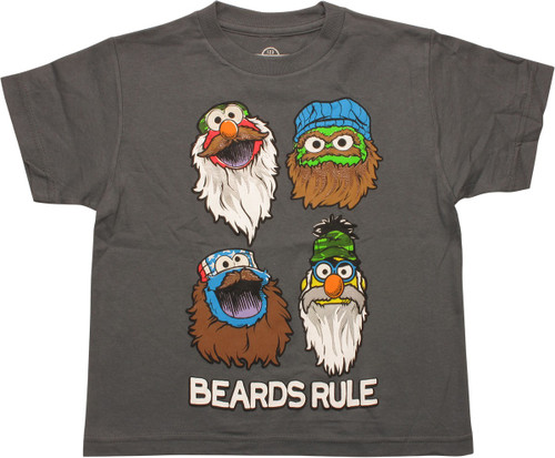 Sesame Street Beards Rule Youth T-Shirt