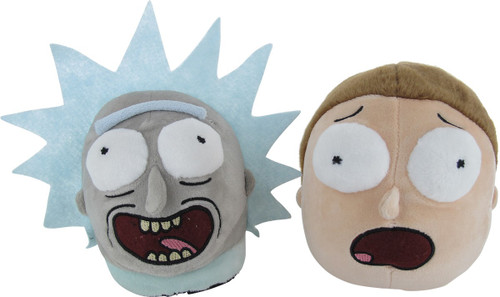 Rick and Morty Plush Faces Slippers