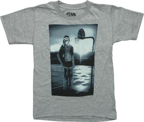 Star Wars Chewbacca Hoops Juvenile T-Shirt