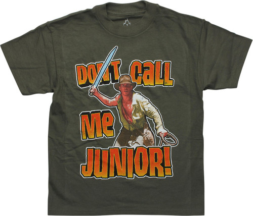 Indiana Jones Don't Call Me Junior Youth T-Shirt