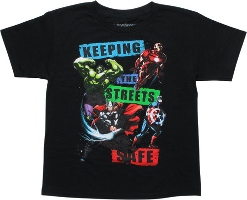 Avengers Keeping the Streets Safe Youth T-Shirt