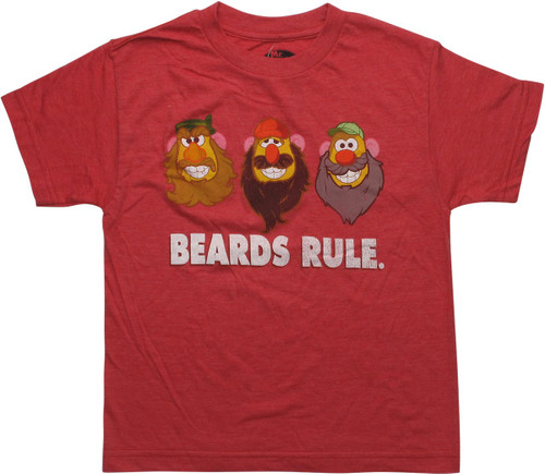 Mr Potato Head Beards Rule Youth T-Shirt