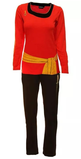 Star Trek Uhura Costume Long Sleeve Pajama Set