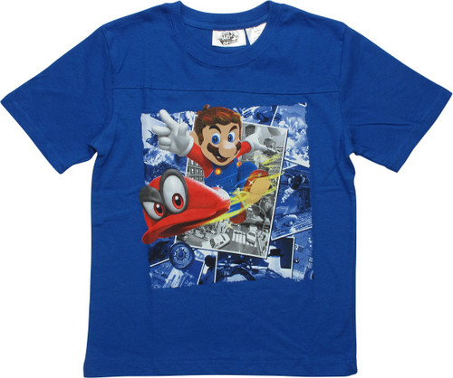 Super Mario Odyssey Blue Juvenile T-Shirt