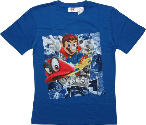 Super Mario Odyssey Blue Youth T-Shirt