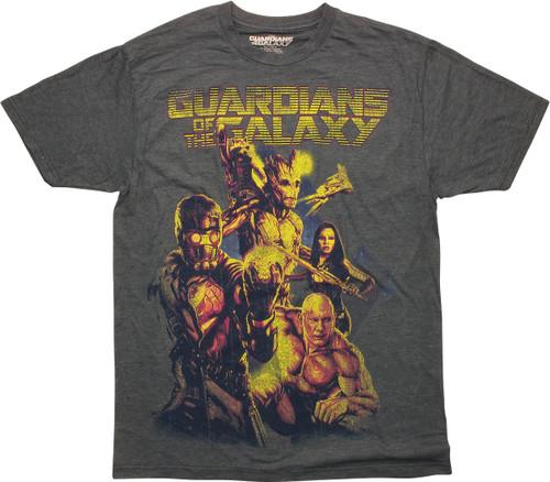 Guardians of the Galaxy Movie Hero Team T-Shirt