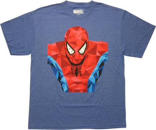 Spiderman Gem Facet Prism T-Shirt