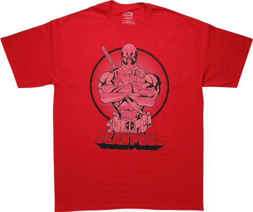 Deadpool Arms Crossed Red T-Shirt