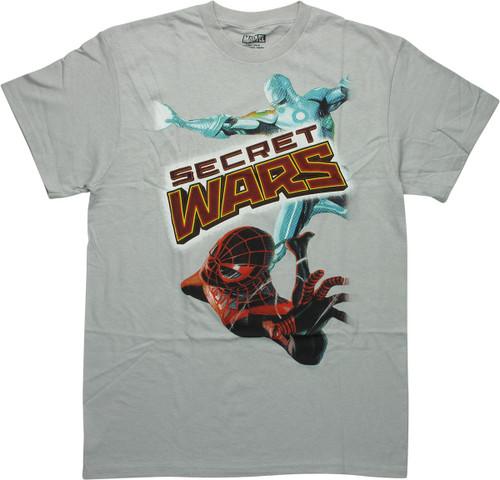 Marvel Secret Wars Spiderman and Iron Man T-Shirt